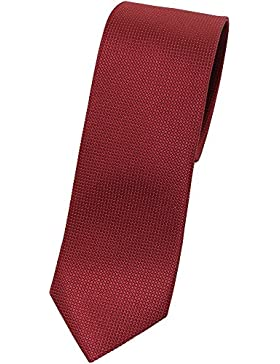 bugatti Seidenkrawatte rot TIE 7cm slimfit