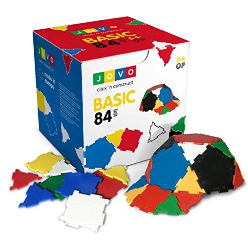 Konstruktionsspielzeug JOVO® - Basic 84 Teile Lernspielzeug Steckbaukasten Neuauflage
