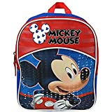 Disney Mickey Mouse School Backpacks With Coloring Books & Free Bracelet (Small Mickey Bag W/ Mickey Books)