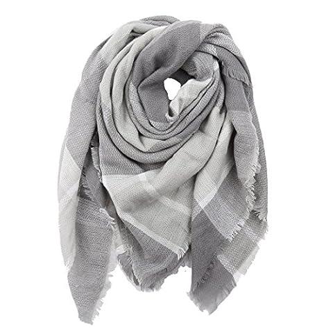 Damen Schal PATCHWORK Oversized Herbst Winter Deckenschal klassische Kariert Schal lang weich warm Karoschal