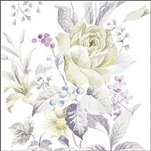 """rosas blancas–Diario 2016–Pack de 20servilletas de papel Almuerzo–3ply–33x 33cm"