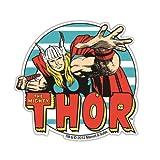 Aimant de réfrigérateur Le Puissant Thor - aimant de frigo Marvel Comics - magnet The Mighty Thor - Super-héroes - en forme - Design original sous licence - LOGOSHIRT