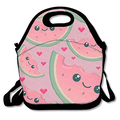 CrownLiny Cute Watermelon Travel Picnic Lunch Bag Lunchboxes Outdoor Lunch Box Bag Lunch Tote Lunch Pouch Handbag