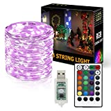 Onforu 10M RGB LED Luci Stringa, Catena luminosa con USB, 100 LEDs Luci 16 colori& 4 Modalità, Impermeabili IP65, Telecomando Ricevitore inclusi, Flessibile Luce Romantica Decorazione