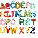 Case Cover 26pcs cartoon koelkastmagneet hout Engelse alfabet koelkast magneet 26 letters willekeurige kleur