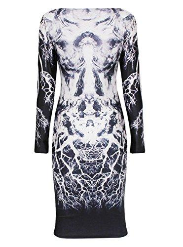 Dissa® FOB60135 femme Mini Robe de soirée Multicolore