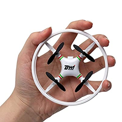 GEZICHTA Dwi Dowellin D1 Mini Drone RC Quadcopter 360° Flips and Rolls Remote Control Headless Mode One Key Return Spin Micro UFO Toy, 2.4G 4CH 6Axis 3D Flip LED RTFGift for Kids Adults