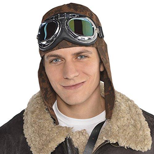 Brille Fliegerkappe Kostüm Und - Fliegermütze mit Brille Kostümzubehör