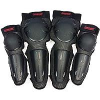 GW Equipo De Protección Rodilleras De Motocicleta Codo Protector Ciclismo De Montaña Pista De Leggings Polainas Equipo De Protección Bicicleta De Montaña Equipo De Protección - 4 Piezas