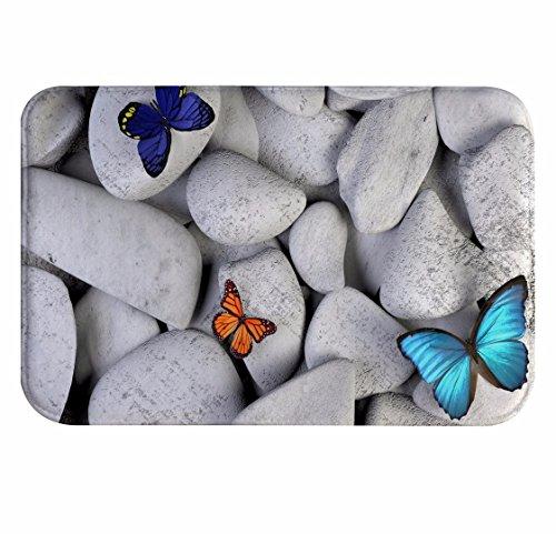 A.Monamour Alfombrillas De Baño Rocas Blancas Piedras