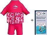 Float Suit, RB-1-2 Rosa Blumen T-Shirt, 1-2 Jahre