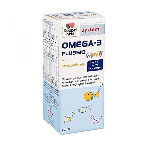 Preisvergleich Produktbild Doppelherz System Omega-3 family flüssig Saft, 250 ml