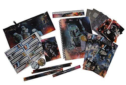 Preisvergleich Produktbild 69 tlg. Set Star Wars Schreibset Schreibbox Lineal Sticker Radierer Spitzer Clone Wars Starwars