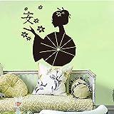 Olivialulu Autocollants Asie Japonais Geishas Zen Vinyle Sticker Mural Papier Peint...