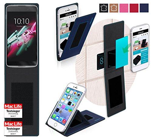 reboon Hülle für Alcatel OneTouch Idol 3C Tasche Cover Case Bumper | Blau | Testsieger