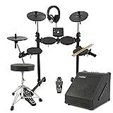 Digital Drums 400 kompaktes elektronisches Schlagzeug - im Paket mit Verstärker