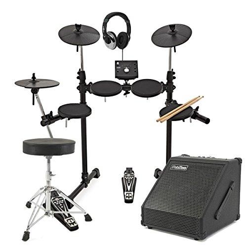 batterie lectronique compacte dd400 par gear4music avec ampli et tabouret drum buy online. Black Bedroom Furniture Sets. Home Design Ideas