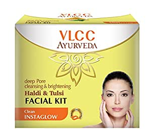VLCC Ayurveda Deep Pore Cleansing and Brightening Haldi and Tulsi Facial Kit- 50g