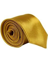 CellDeal- Cravate Homme Mince De Couleur Solide Pour Mariage