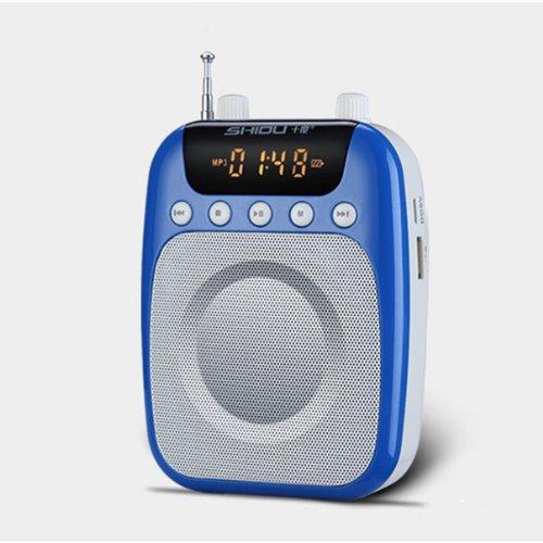ZeleSouris Bund Stimme Verstärker Mikrofon Lautsprecher Portable für Lehrer, Trainer, Tour Führer, Präsentationen, Kostüme, etc.. Music Play Funktion unterstützt USB TF Karte marineblau