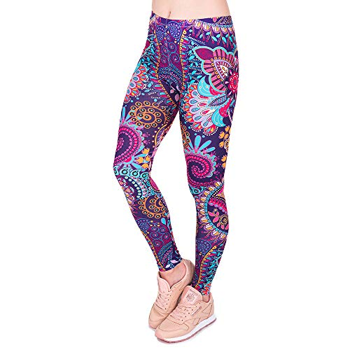 MAYOGO Damen Digital Printing Yoga Training Fitness Leggings Strumpfhosen Bunt Yogahose Streetwear Skinny Hose Tights Hose Formende Bodys Shapewear - Skinny Leg Tight
