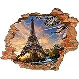 Wandbild Sticker 3D Foto Tapete Wandtattoo ca. 125x100 cm #1480 (Paris)
