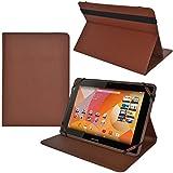 iprotect Kunstleder Tasche für MEDION LIFETAB Schutz Hülle Case mit Standfunktion für S10346 MD 98992 und s10366 MD 99781 10,1 Zoll Braun