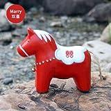 Sparschwein Spardose Schwein Puppe Nächstenliebe rotes Pferd chinesisch Tier