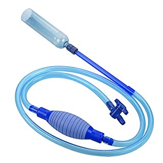 Langediao 7,5 ft Aquarium Reiniger, Quick Release Aquarium Vacuum Siphon Pumpe mit Flow Control Hahn für Aqua Clean Wassermann Wasser Austausch