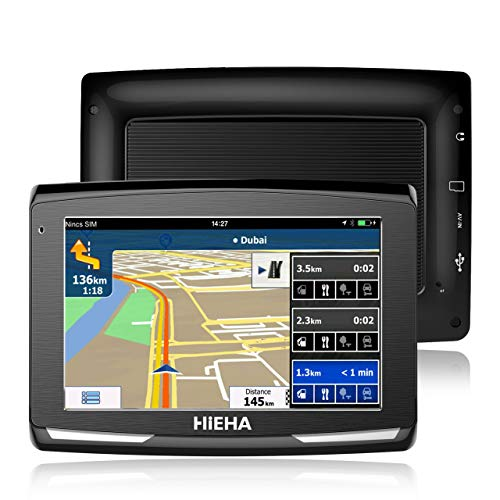 5' GPS Voiture Auto Moto 8GB, HIEHA Appareil de Navigation...