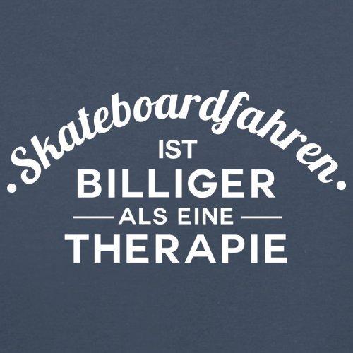 Skateboardfahren ist billiger als eine Therapie - Herren T-Shirt - 13 Farben Navy