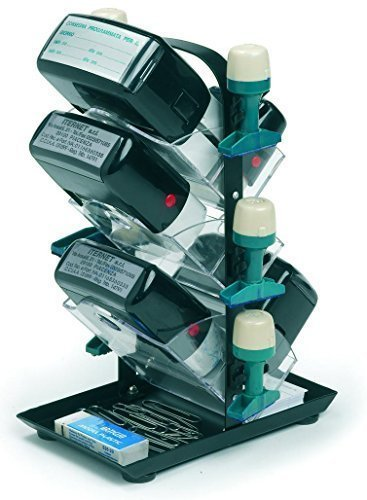Stempelhalter für verschiedene Stempelarten, Farbe:Schwarz