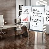 Master of Boards® Flipchart Platinum Vision, stufenlos höhenverstellbar, mit Seitenarmen