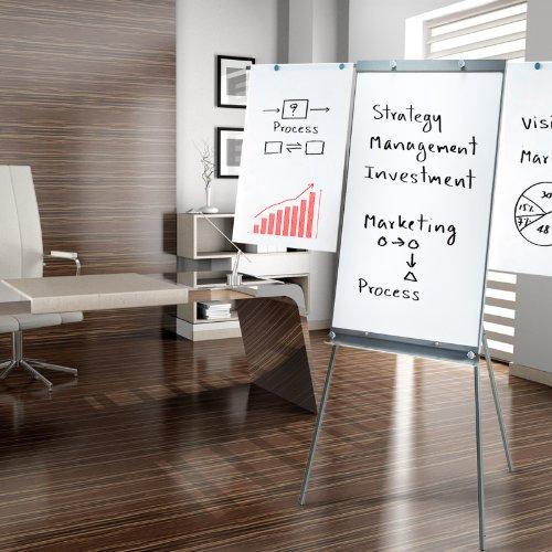 Preisvergleich Produktbild Master of Boards® Flipchart Platinum Vision, stufenlos höhenverstellbar, mit Seitenarmen