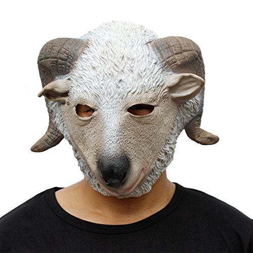 CreepyParty Deluxe Neuheit-Halloween-Kostüm-Party-Latex-Tierkopf-Schablone Masken Ziege (Masquerade Halloween Kostüme Männlich)