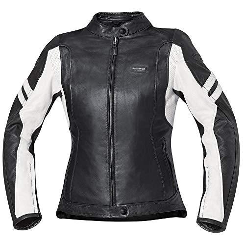 Held Katy Damen Lederjacke, Farbe schwarz-weiss, Größe 44