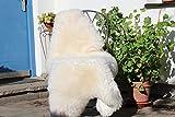 Alpenfell Schaffell Lammfell Merinoschaf groß 130-140cm Weiß Echtes Fell ökologische Gerbung