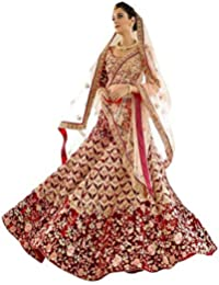 a2e5739f54f12e Matindra Enterprise Womens Taffeta Silk With Blouse Piece Lehenga Choli  MEPSN 131 Red Free Size