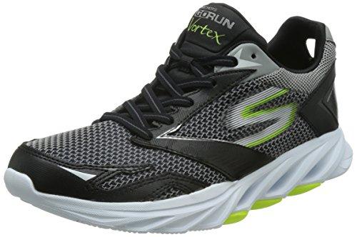 Skechers Go Run Vortex - Zapatillas de deporte para hombre, color Negro (BKLM), talla 39 EU