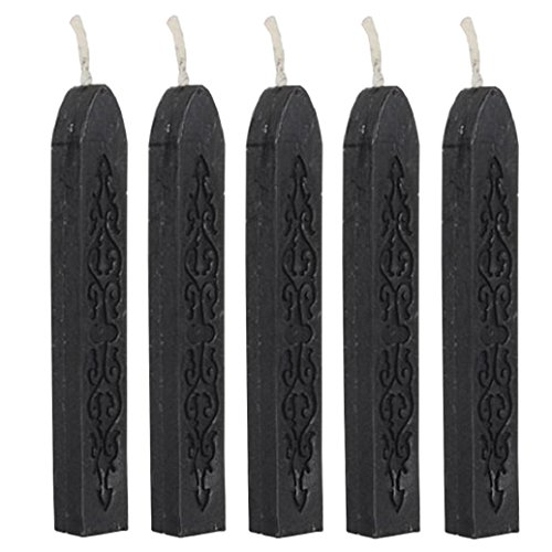 cheers-online-5pcs-vintage-flower-classic-sealing-wax-stamp-sticks-for-postage-letter-black