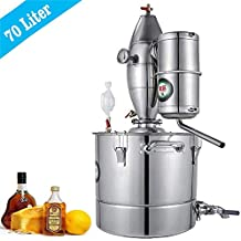 HUKOER Destilador de Agua Alcohol Acero Inoxidable para elaboración de la cerveza,el vino y