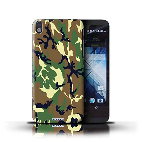 Kobalt® Imprimé Etui / Coque pour HTC Desire 816 / Rose 1 conception / Série Armée/Camouflage Vert 4