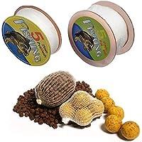 Fellibay Para tiendas de campaña de pesca Bolsa de malla para cebo de pesca, de PVA, para pesca de carpas para cebo, para aparejos de pescado (2 paquetes)