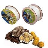Fellibay Bolsa de malla para cebo de pesca, de PVA, para pesca de carpas, de repuesto, universal, para cebo, para aparejos de pescado (2 paquetes)