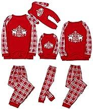 Fossen MuRope 2 Piezas Pijamas Navidad Familia Papá Mamá Niño Rojo Pijama Familiar a Juego, Pijamas Navidad Fa