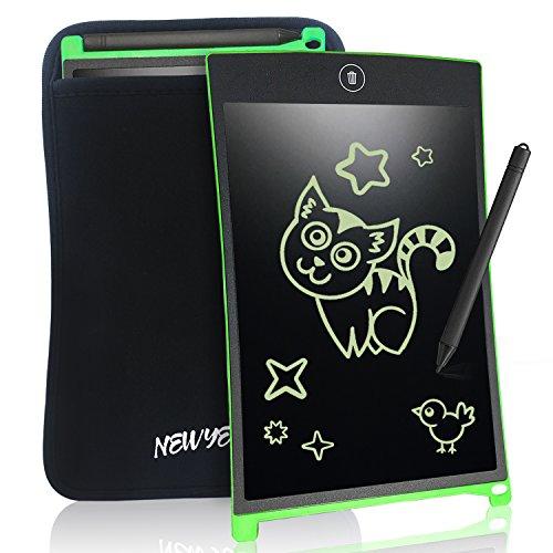 NEWYES Tablet da Scrittura LCD Portatile con Custodia, Lunghezza 8,5 Pollici, Vari...