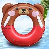 MON5F Home Kinderschwimmring 3-12 Jahre alt 60-70cm Sicherheit und Umweltschutz Verdickung Studenten Braunbär Schwimmring (Size : 60cmbulang)