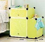 XWG Aufbewahrungsschränke Einfache Nachttisch Schrank Moderne Kreative Schrank Mini Kunststoff Schließfächer Zusammenbauen Sie die Storage Cabinet (Farbe : 3#)