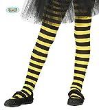 Guirca Ringelstrumpfhose Gelb Schwarze Biene für Kinder Zubehör für Party Kostüm Fasching Karneval