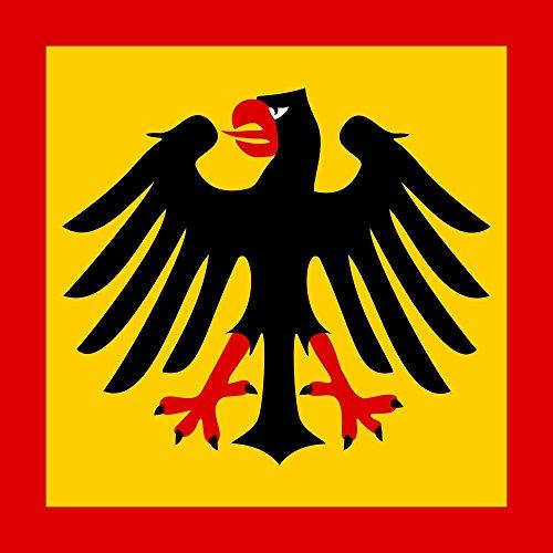 DIPLOMAT Flagge Bundespräsidenten der Bundesrepublik Deutschland | Fahne 0.06m² | 25x25cm für Flags Autofahnen